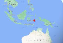 インドネシアのバンダ海。このはるか下ではコアの成長が早くなっている。