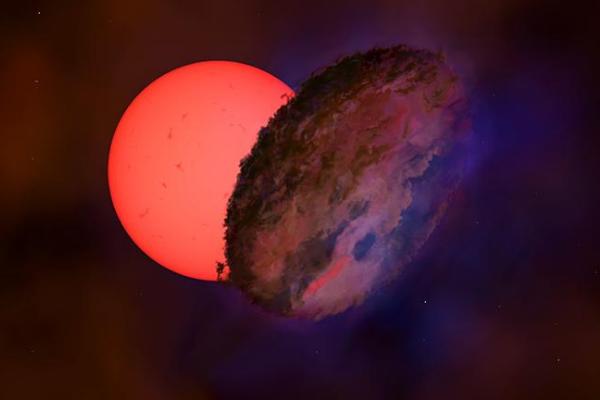 銀河の中心で「点滅する巨星」を見つける