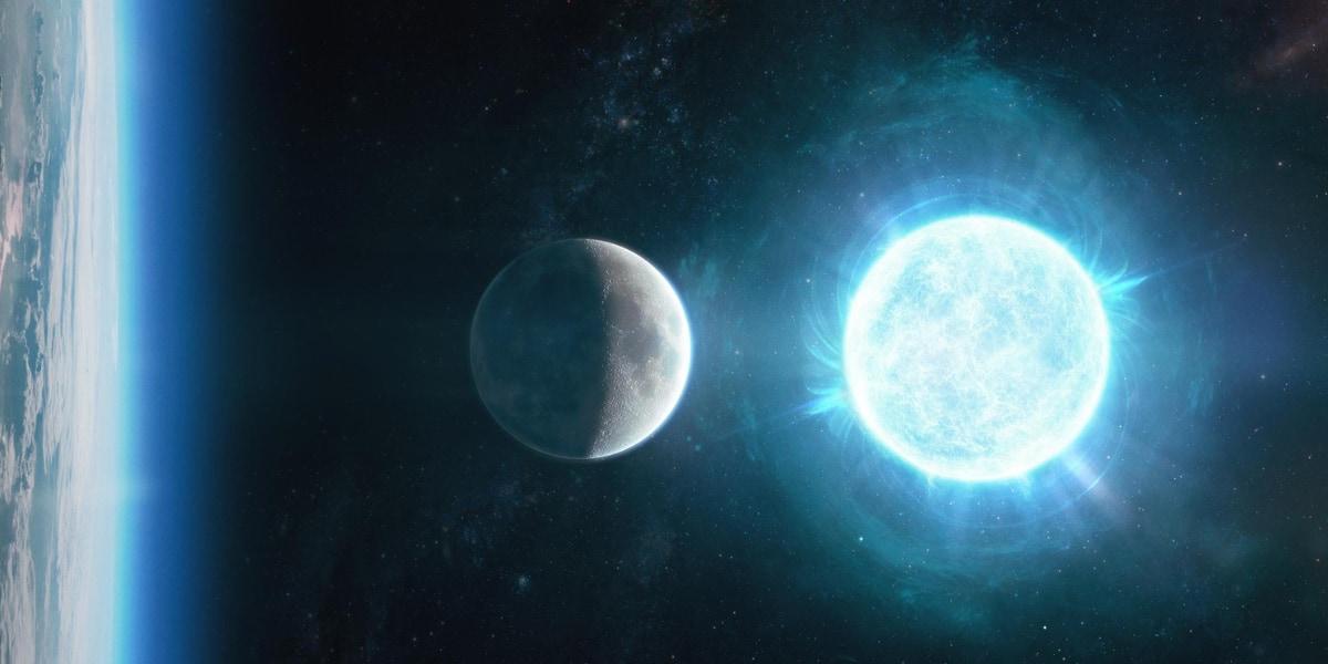 ZTFによって発見された直径4,300キロメートルの白色矮星。月の直径3,500キロメートルとほぼ同サイズ
