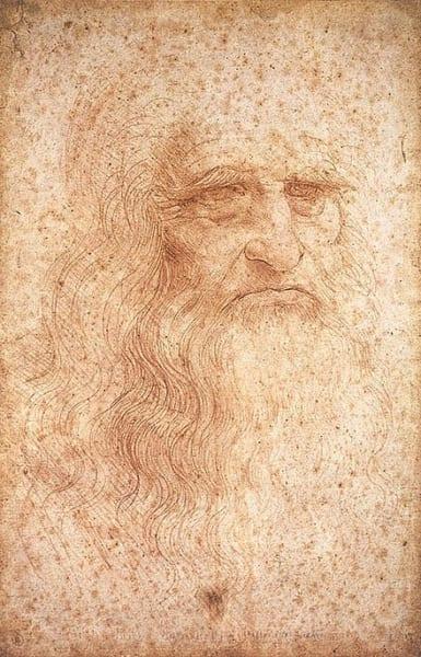 レオナルドの自画像(トリノ王宮図書館所蔵)