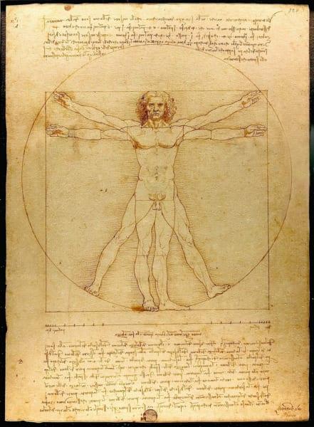 あまりにも有名な『ウィトルウィウス的人体図』