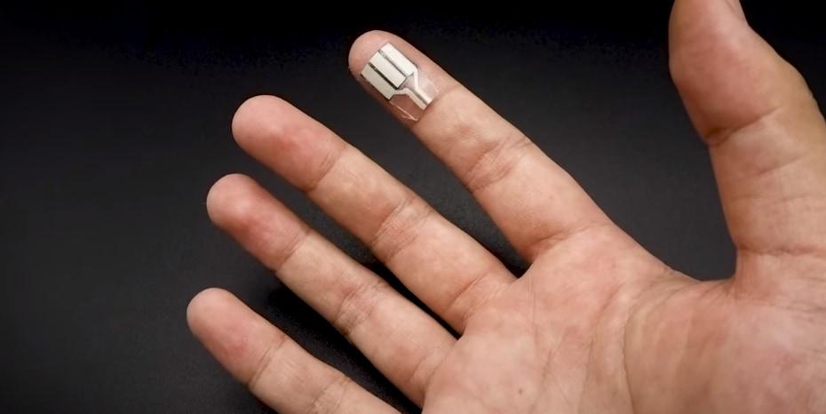 手汗で発電するデバイス