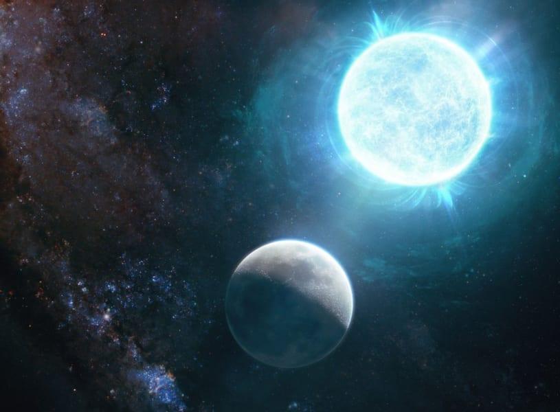 月とほぼ同サイズの白色矮星