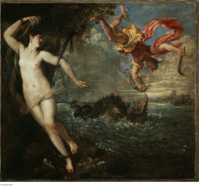 アンドロメダ姫を救出するペルセウス