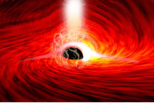 「時空の歪み」でブラックホールの裏側の光が初めて観測される