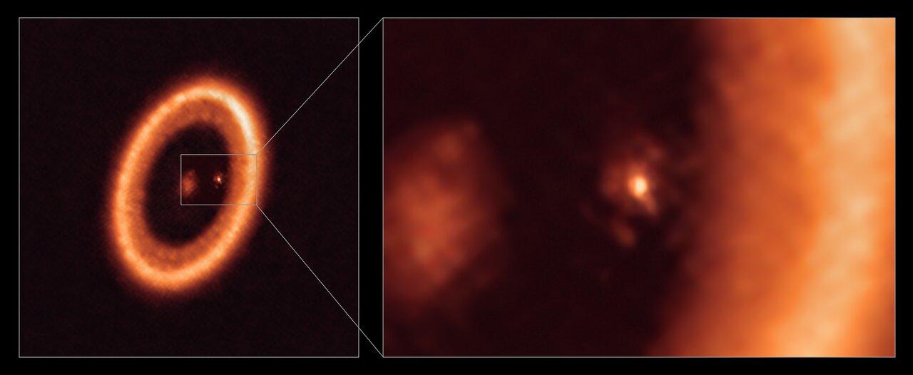 アタカマ大型ミリ波/サブミリ波アレイ(ALMA)が撮影した月が形成される系外惑星の円盤