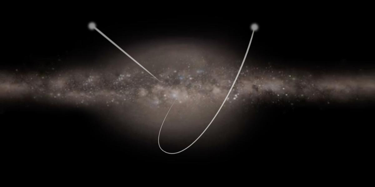 発見された星は時速320万kmで天の川銀河の端へ向かって爆走している