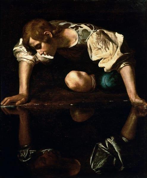 カラヴァッジオが描いたナルキッソスの絵画