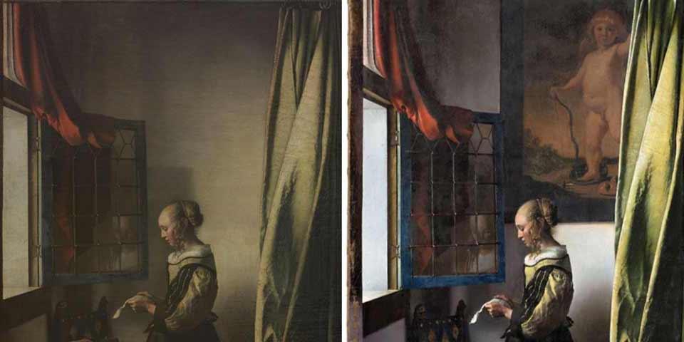 フェルメール作『窓辺で手紙を読む女』の修復が完了