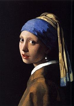『真珠の耳飾りの少女』1665年頃、マウリッツハイス美術館所蔵
