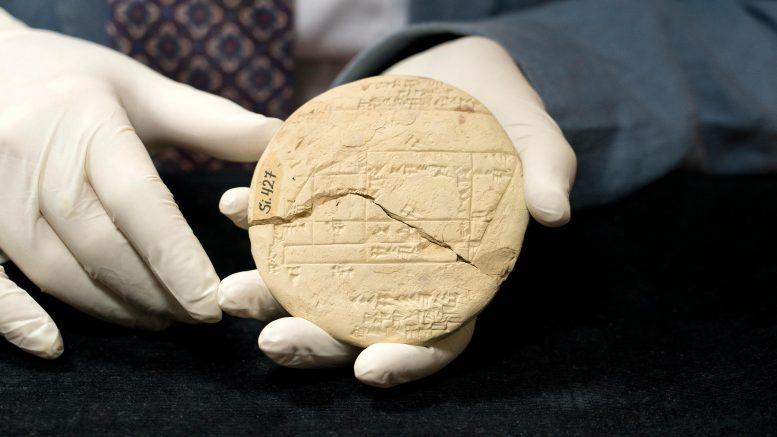 「世界最古の数学の応用例」を3700年前のバビロニアの粘土板から発見。ピタゴラスより1000年早い