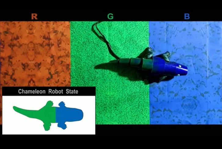 歩きながらカモフラージュできる「カメレオン型ロボ」が開発される