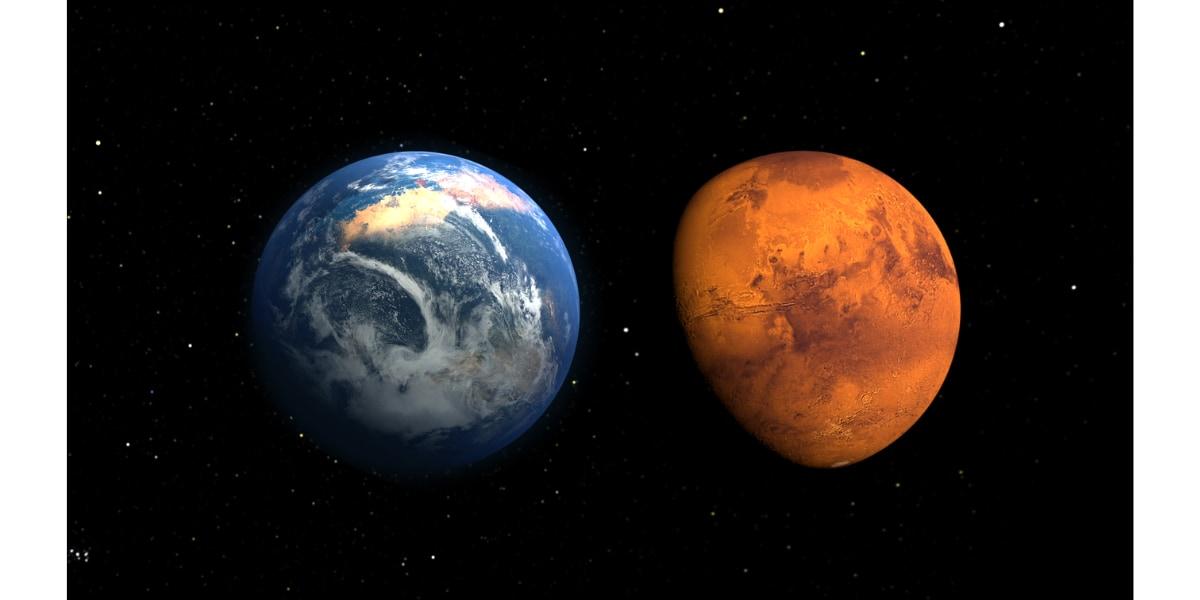 火星初期の環境を描いたアーティストイメージ