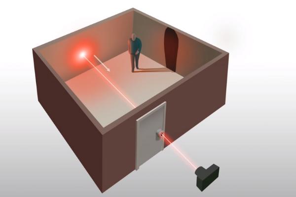 「鍵穴からのレーザー光」だけで室内の物体を画像化させる技術が登場