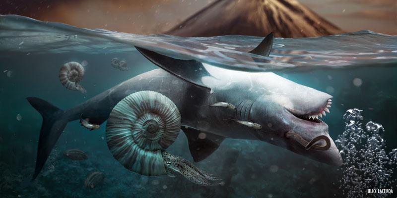 ペルム紀末の大量絶滅では海洋生物の95%が死滅したという