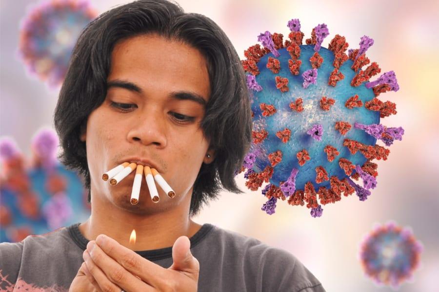 喫煙者は新型コロナウイルスで入院すると重症化率・死亡率が高くなると判明!