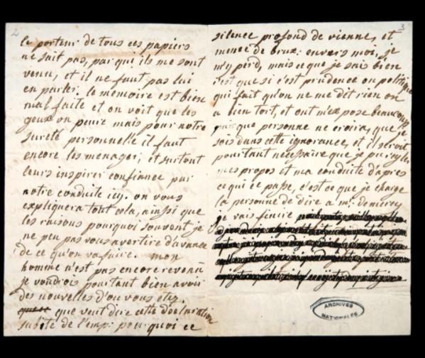 マリーアントワネットの「黒塗りで隠された手紙」の解読に成功