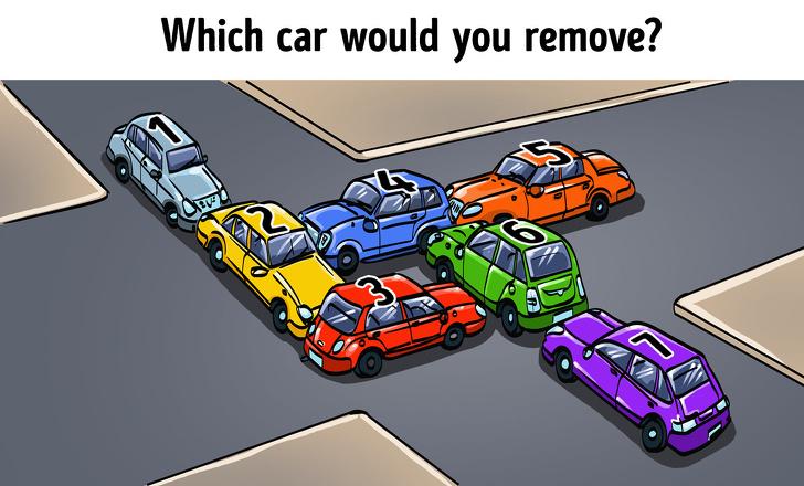 【クイズ】車を1台だけ動かして、渋滞を解消させてください