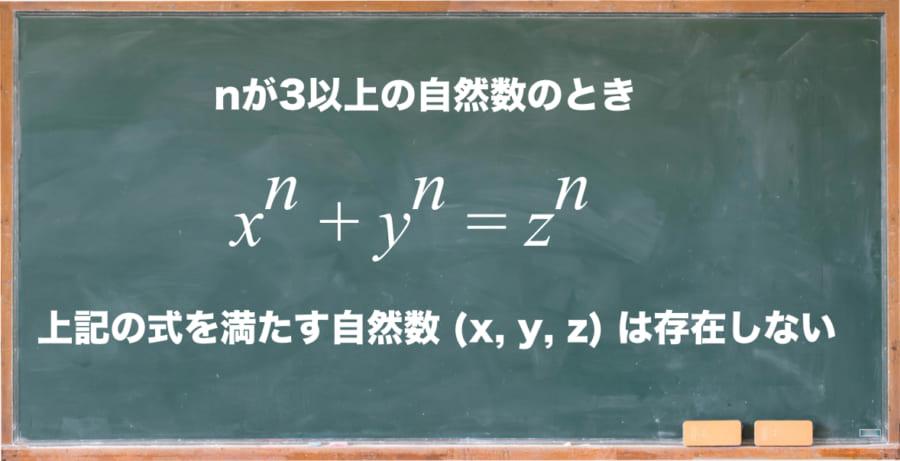 フェルマーの最終定理が示す命題。