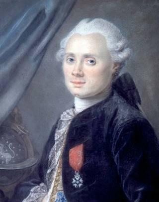 星雲のカタログを作成したフランスの天文学者、シャルル・メシエの肖像。
