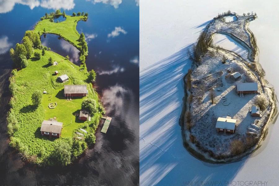 四季で違う顔を見せるコティサーリ島が完全にRPG世界