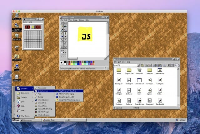 Windows95にまた会える! Windows・macOS・LinuxでインストールできるWindows95アプリが公開