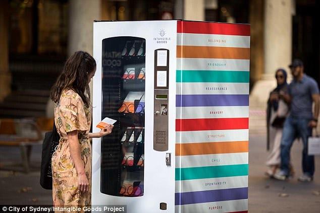 「感情を売る自販機」がシドニーで設置される