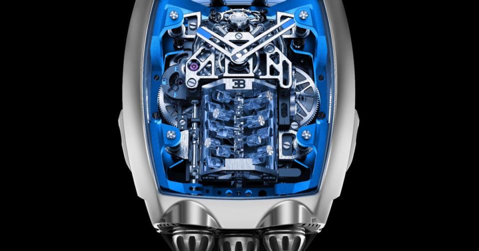メカ好き必見!ブガッティのエンジンを載せた夢の腕時計が発表される