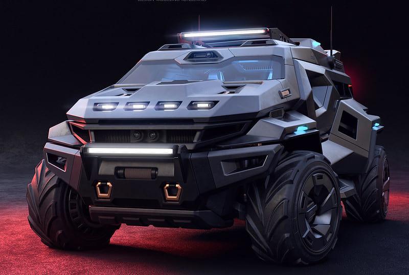 「終末世界」でも走れそうなイカついSUV車のデザインが公開