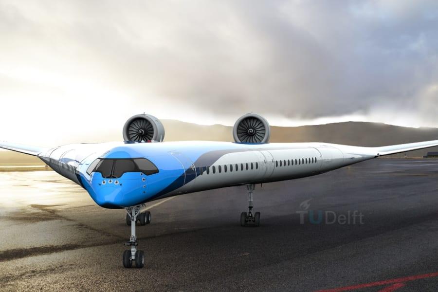翼に旅客を乗せる「V字型飛行機」のスケールモデル飛行テストが成功!