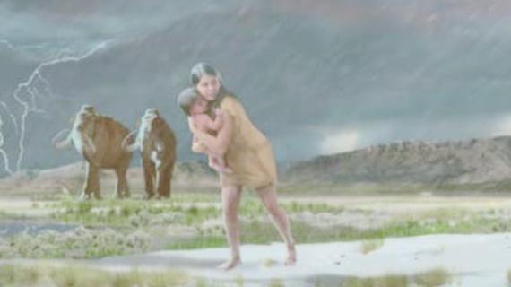 1万年以上前の「母と子どもの足跡の化石」から親子がたどった旅路が明らかに