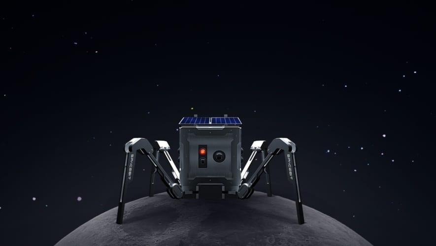 地球以外の天体を初めて歩く「月面四足歩行ロボットASAGUMO」を発表! SF作品から飛び出してきたようなフォルム