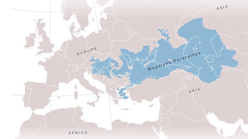 イタリアからカザフスタンまで広がっていた地球最大の湖「パラテチス海」消滅の謎