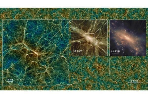 宇宙を誕生時からシミュレーションした「模擬宇宙」を国立天文台が公開