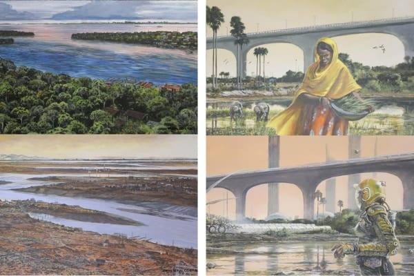 西暦2500年の気候を考慮した世界のイラストが公開される