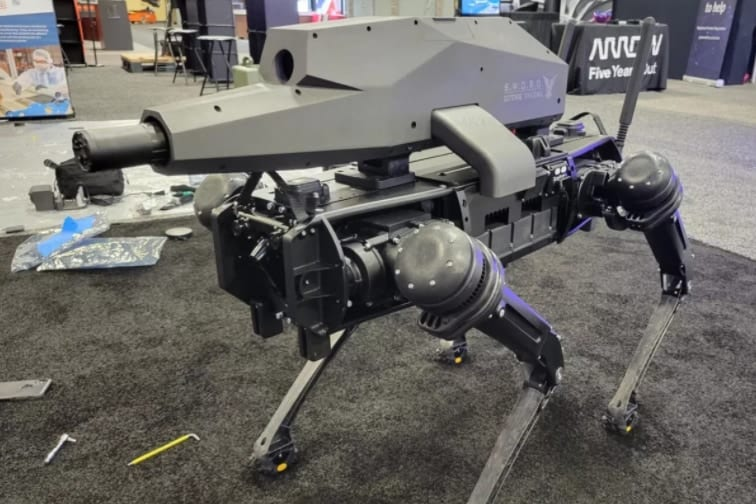 ついに「ライフルを装備したロボット犬」が開発される